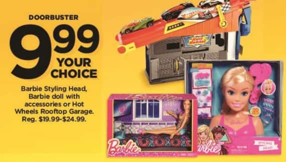 Kohl's Black Friday: Barbie Doll with Accessories for $9.99
