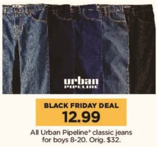 Kohl's Black Friday: All Urban Pipeline Classic Jeans for Boys for $12.99