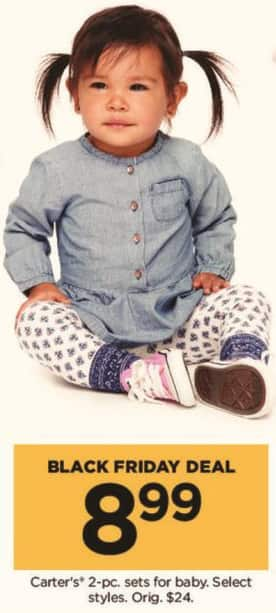 Kohl's Black Friday: Carter's 2 Piece Sets for Baby, Select Styles for $8.99