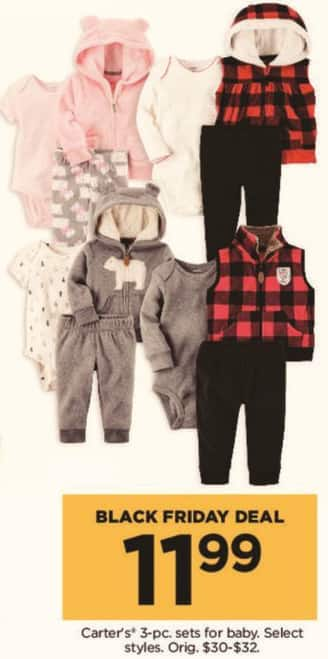 Kohl's Black Friday: Carter's 3 Piece Sets for Baby, Select Styles for $11.99