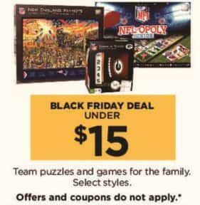 Kohl's Black Friday: Team Puzzles and Games for the Family, Select Styles - $15 or Less