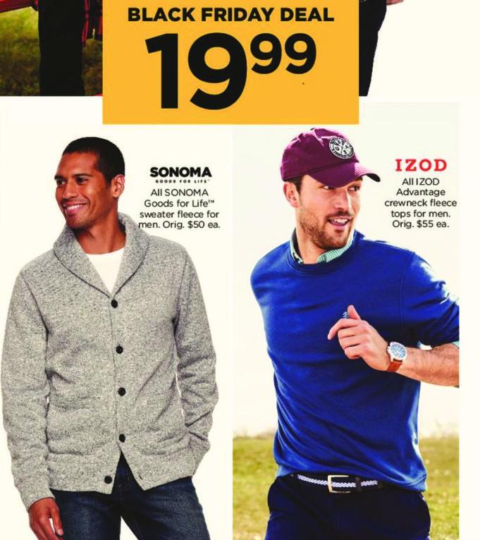 Kohl's Black Friday: All Sonoma Goods For Life Men's Sweater Fleece for $19.99