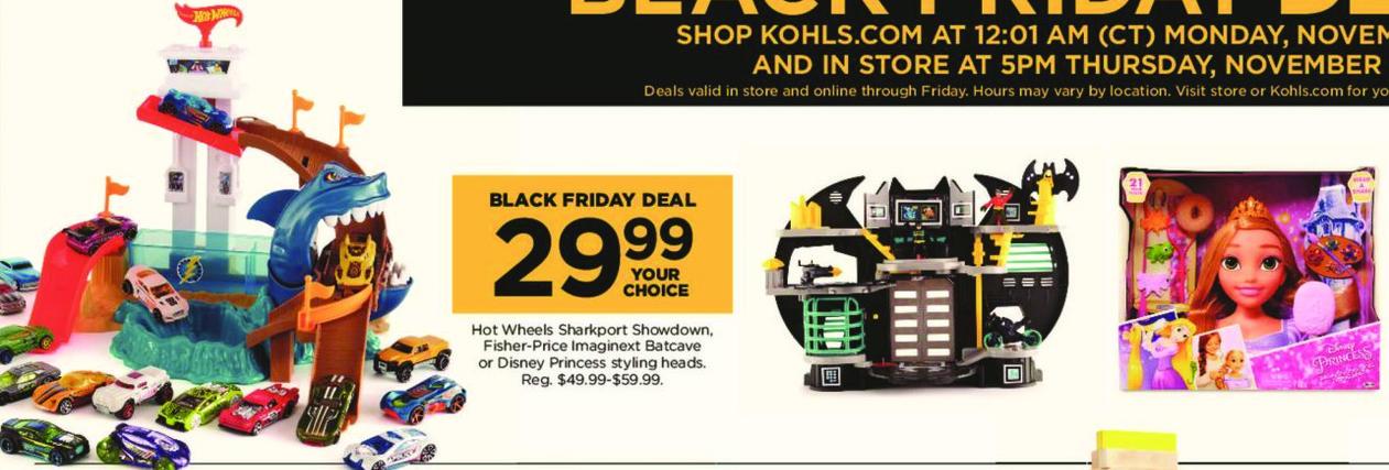 Kohl's Black Friday: Hot Wheels Sharkport Showdown for $29.99