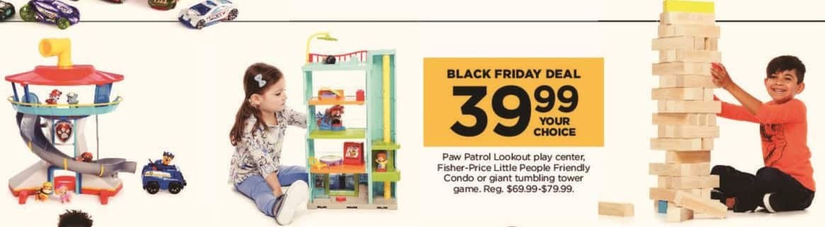 Kohl's Black Friday: Paw Patrol Lookout Play Center for $39.99