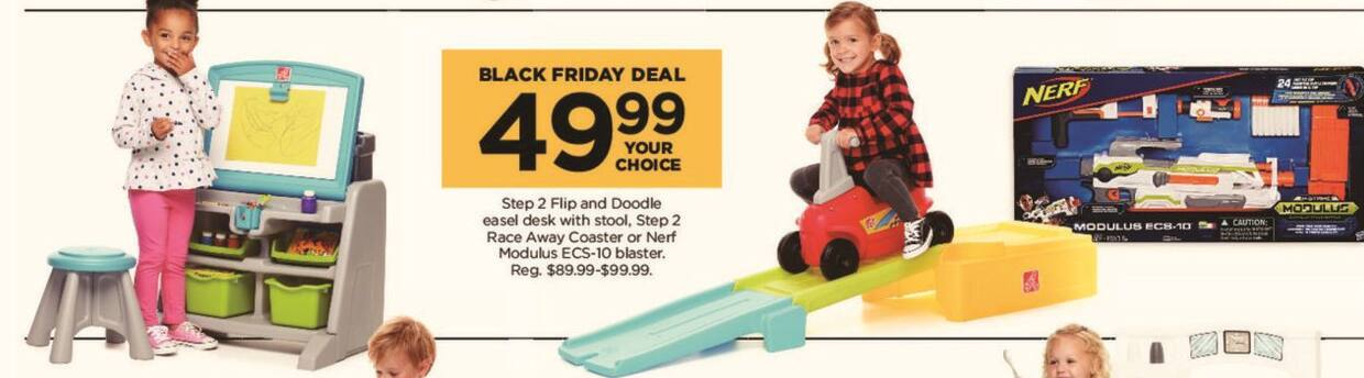 Kohl's Black Friday: Step 2 Flip and Doodle Easel Desk with Stool for $49.99