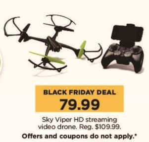 Kohl's Black Friday: Sky Viper HD Streaming Video Drone for $79.99