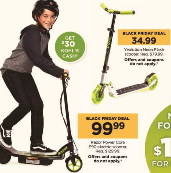 Kohl's Black Friday: Razor Power Core E90 Electric Scooter + $30 Kohl's Cash for $99.99