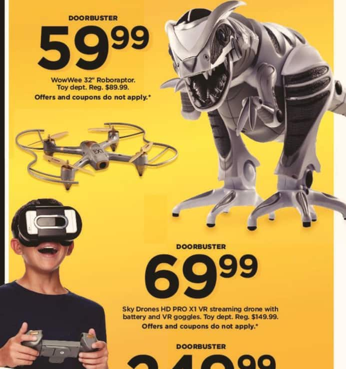 Kohl's Black Friday: Sky Drones HD Pro X1 VR Streaming Drone with Battery and VR Goggles for $69.99