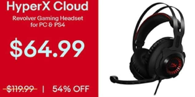 eBay Black Friday: HyperX Cloud Revolver Gaming Headset for PC and PS4 for $64.99