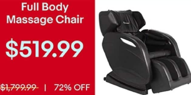 ebay black friday full body massage chair for