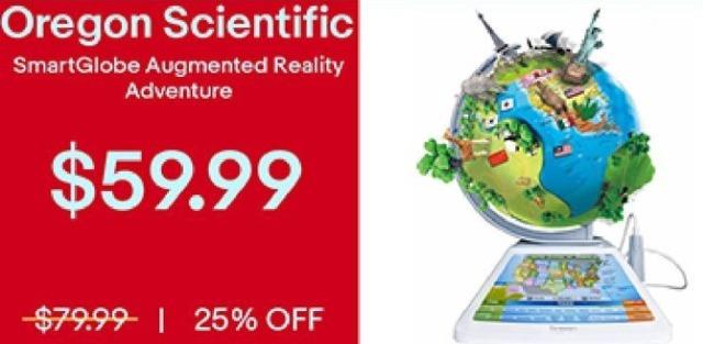 eBay Black Friday: Oregon Scientific SmartGlobe Augmented Reality Adventure for $59.99