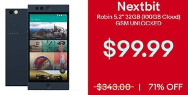 "eBay Black Friday: Nextbit Robin 5.2"" 32GB Unlocked GSM Smartphone for $99.99"
