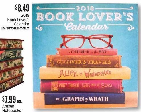 Half Price Books Black Friday: Booklovers 2018 Calendar for $8.49