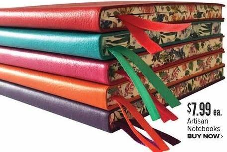Half Price Books Black Friday: Artisan Notebooks for $7.99