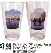 Half Price Books Black Friday: Pink Floyd Wish You Were Here Pint Glass Set for $7.99