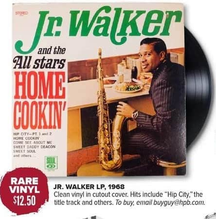 Half Price Books Black Friday: Rare Vinyl: Jr. Walker LP 1968 for $12.50