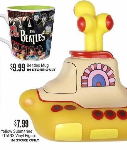 Half Price Books Black Friday: Yellow Submarine TITANS Vinyl Figure for $7.99