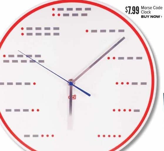 Half Price Books Black Friday: Morse Code Clock for $7.99