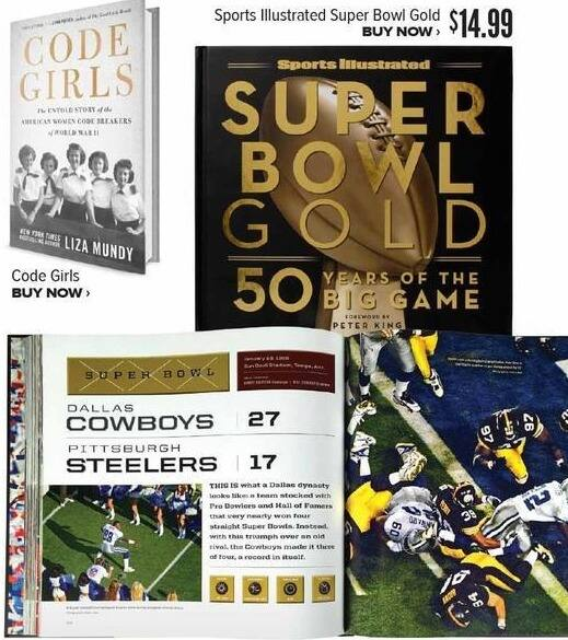 Half Price Books Black Friday: Sports Illustrated Superbowl Gold: 50 Years of the Big Game for $14.99