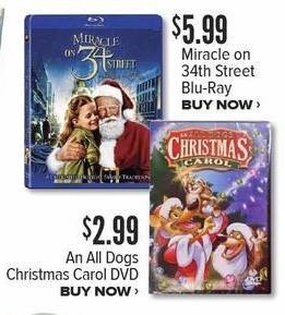Half Price Books Black Friday: All Dogs Christmas Carol DVD for $2.99