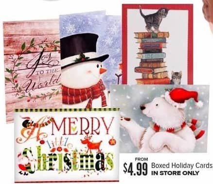 Half Price Books Black Friday: Boxed Holiday Cards, Select Styles for $4.99