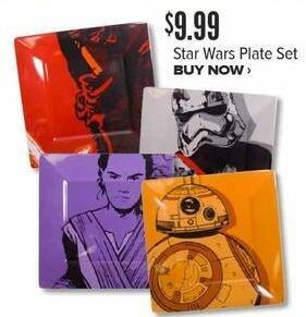 Half Price Books Black Friday: Star Wars Plate Set for $9.99