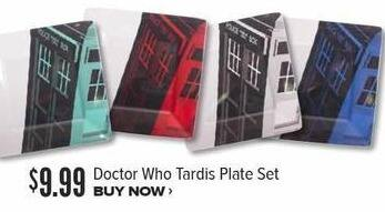 Half Price Books Black Friday: Doctor Who Tardis Plate Set for $9.99