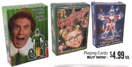 Half Price Books Black Friday: Christmas Playing Cards, Assorted Styles for $4.99