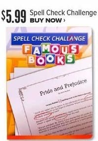 Half Price Books Black Friday: Spell Check Challenge Game for $5.99