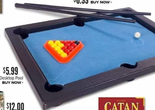 Half Price Books Black Friday: Desktop Pool for $5.99