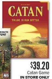 Half Price Books Black Friday: Catan Game for $39.20