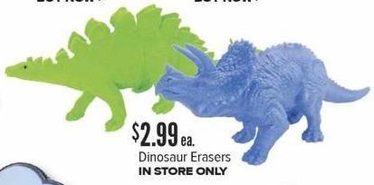 Half Price Books Black Friday: Dinosaur Erasers for $2.99