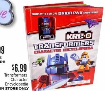 Half Price Books Black Friday: Transformers Character Encyclopedia for $6.99