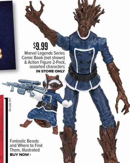Half Price Books Black Friday: Marvel Legends Series Comic Book & Action Figure 2-Pack, Assorted Characters for $9.99