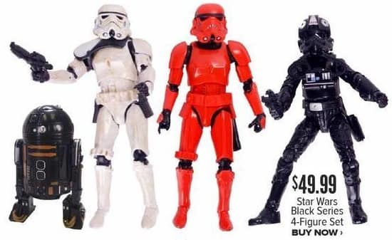 Half Price Books Black Friday: Star Wars Black Series 4-Figure Set for $49.99