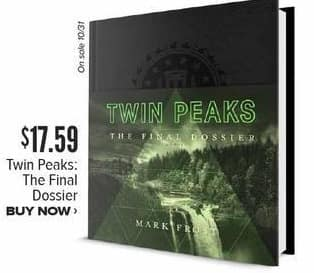 Half Price Books Black Friday: Twin Peaks The Final Dossier Book for $17.59