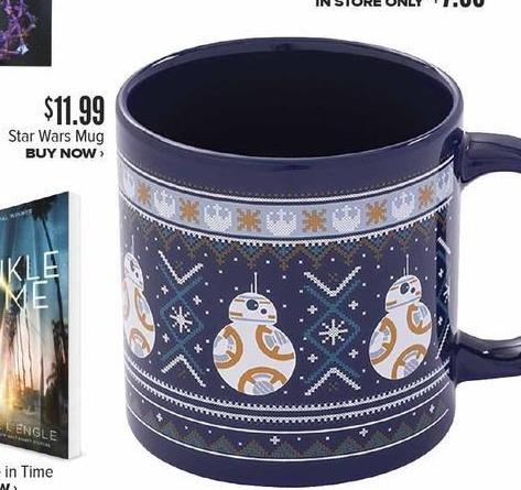 Half Price Books Black Friday: Star Wars Mug for $11.99