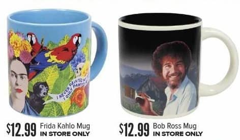 Half Price Books Black Friday: Frida Kahlo or Bob Ross Mug for $12.99