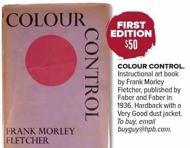 Half Price Books Black Friday: First Edition: Color Control by Frank Morley Fletcher for $50.00