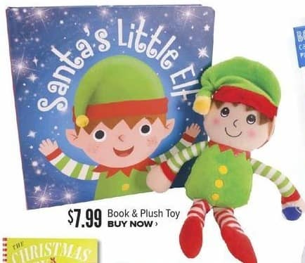 Half Price Books Black Friday: Santa's Little Elf Book and Plush Toy for $7.99