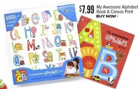 Half Price Books Black Friday: My Awesome Alphabet Book & Canvas Print for $7.99