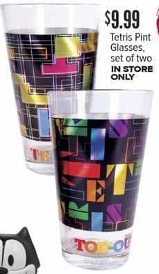 Half Price Books Black Friday: Tetris Pint Glasses, Set of 2 for $9.99