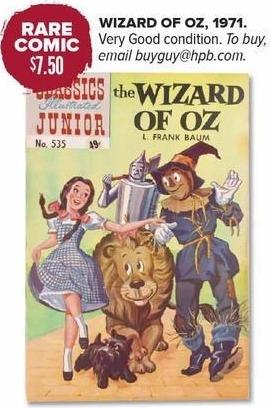 Half Price Books Black Friday: Rare Comic: Wizard of Oz, 1971 for $7.50