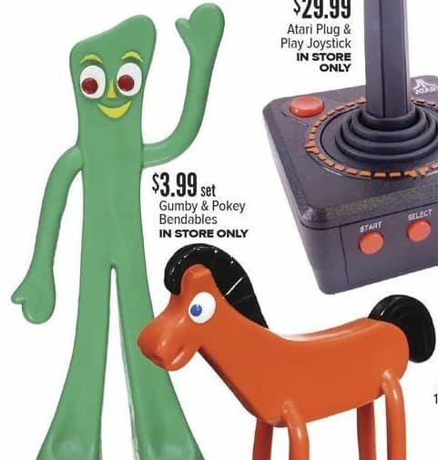 Half Price Books Black Friday: Gumby and Pokey Bendables, Set for $3.99