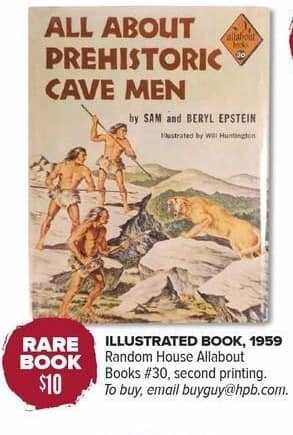 Half Price Books Black Friday: Rare Book: All About Prehistoric Cave Men for $10.00