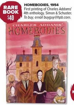 Half Price Books Black Friday: Rare Book: Charles Addams' Homebodies for $40.00