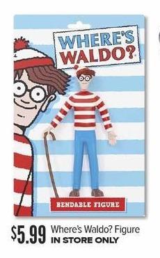 Half Price Books Black Friday: Where's Waldo? Figure for $5.99