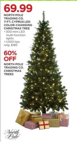jcpenney black friday north pole trading co christmas trees 60 off - Black Friday Christmas Tree Sale