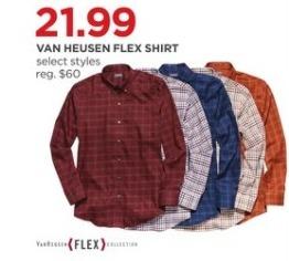 JCPenney Black Friday: Van Heusen Men's Flex Shirt, Select Styles for $21.99
