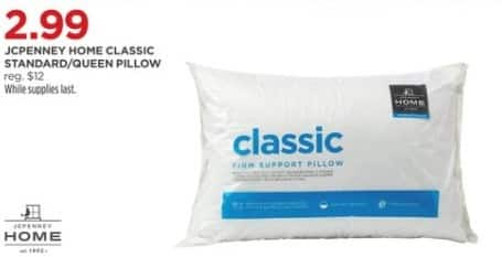 JCPenney Black Friday: JCPenney Home Classic Standard/Queen Pillow for $2.99